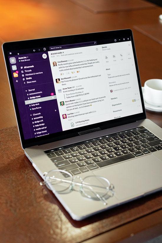 Ηλεκτρονικός υπολογιστής που παρουσιάζει το δικό μας chat